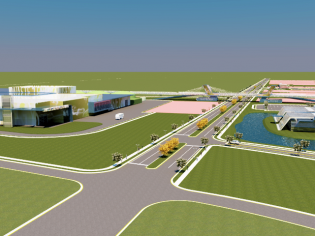 Conceptual view of the recycling facility and gree