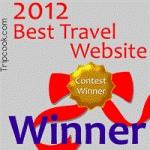 Tripcook's 2012 Best Travel Website Award