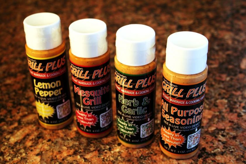 Grill Plus Instant Marinade and cooking sauce is offered in four flavors.