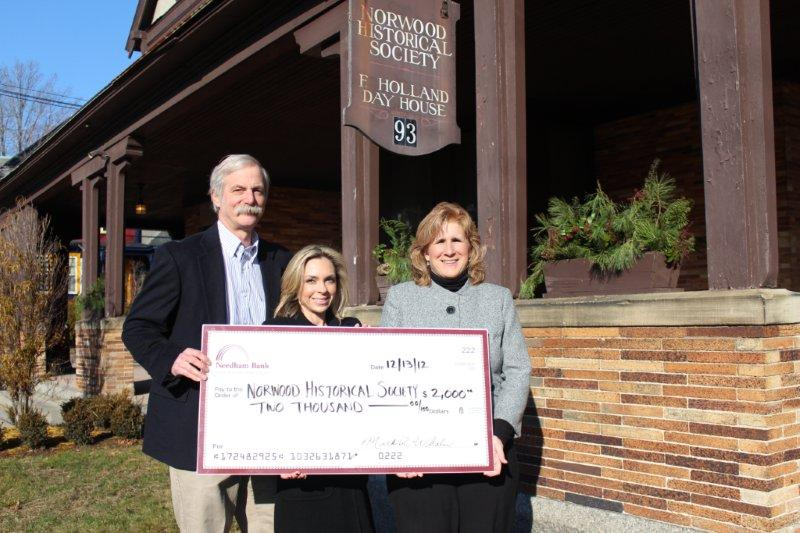 Don Ackerman and Alison Priore of NHS, Rebecca Schofield  of Needham Bank