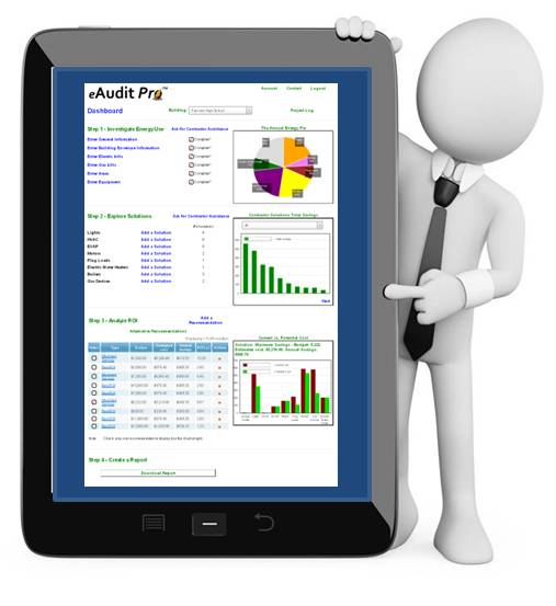 eAuditPro is a simple 4-step energy audit process