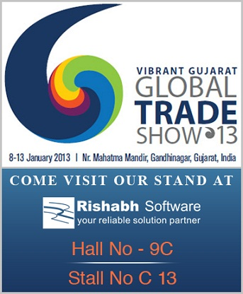 Rishabh Software at Vibrant Gujarat 2013