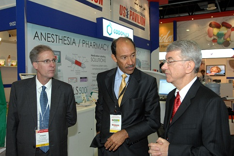 U.S. Ambassador to U.A.E. Michael H. Corbin visits Codonics at Arab Health 2012