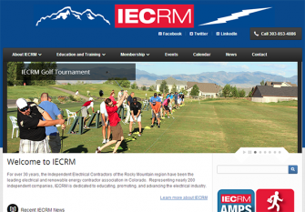 Screenshot of the new IECRM website