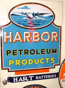 Harbor Petroleum porcelain sign