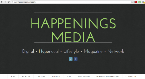 Happenings Media's new website
