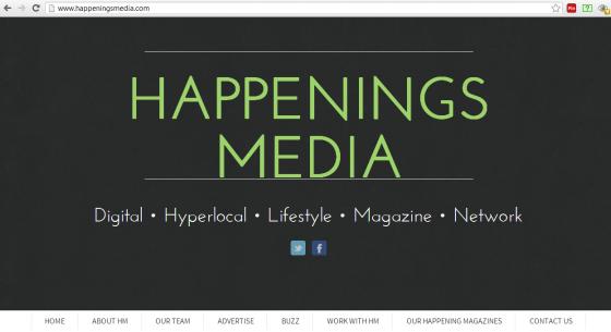 Happenings Media's new website