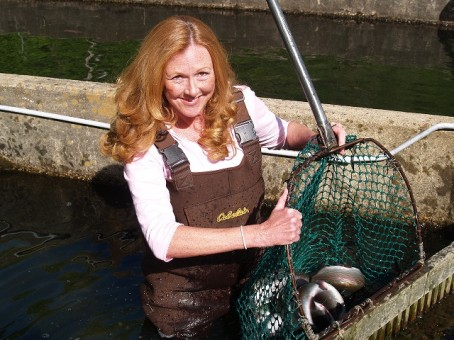 NC trout farmer Sally Eason is one of the speakers during the conference.