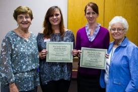 Stanbridge nursing students with volunteers of the Huntington Beach Hospital.