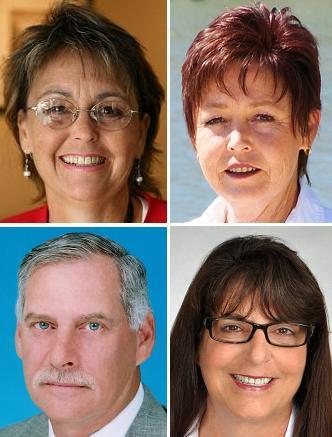 Photo: (Top) Xena Vallone, Renee Marquiss, (bottom) Ron Gordon, Ellen Esses