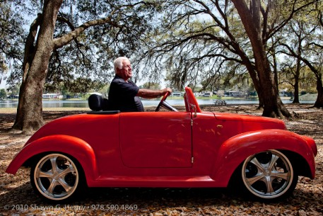 The Golf Cart Man in a 39 Roadster LSV