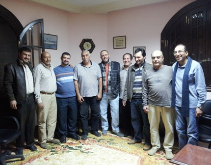 Said Mamdouh (R) meets with Almottahedah-1 seamen