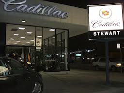 Stewart Cadillac Dealership located at 2520 Main Street in Houston, Texas
