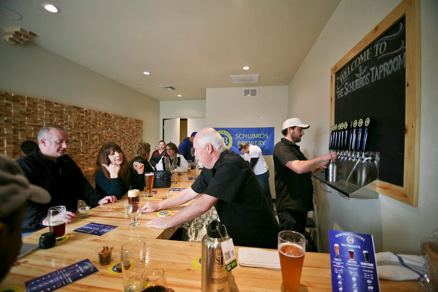 Schubros Brewery Taproom, 12893 Alcosta Blvd, San Ramon on its 'soft launch day'