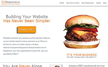 responsive website builder screenshot