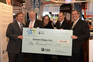 Green Chips Receives Donation from Computer Electronics Association.