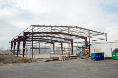 New 12,000 sq. ft. warehouse under construction adjacent to DEI's headquarters