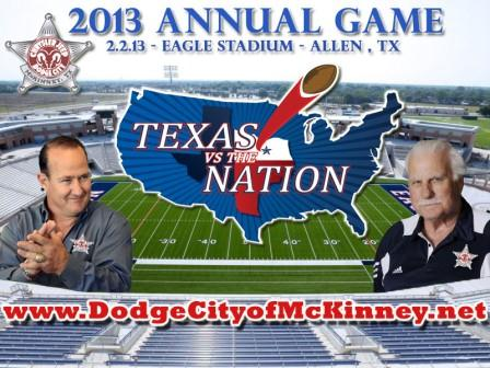 Texas vs the Nation & Dodge City of McKinney Announce Roster Lineup