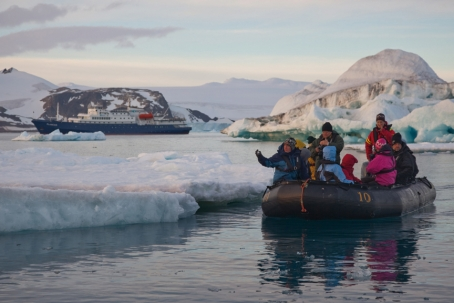 Zodiac explores Antarctica