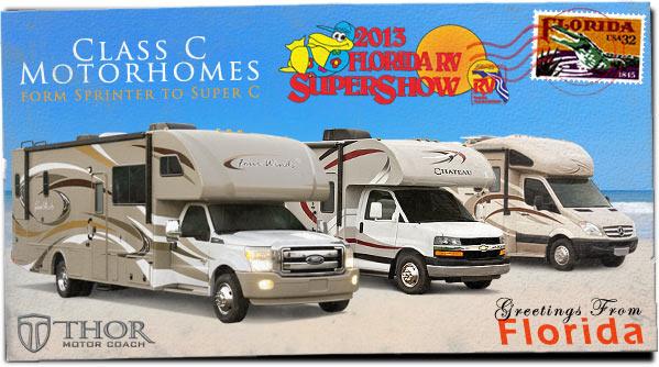 Class C Motorhomes at 2013 Tampa RV Show (Super C RV, Sprinter RV, Class C RV)