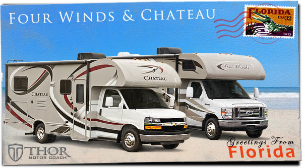New Class C Motorhomes (Class C RV) at 2013 Tampa RV Show in Florida