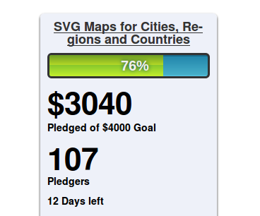 Crowd funding progress for new Analytics Maps (Visitors countries and cities)