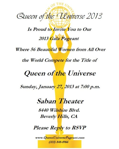 Pageant Invitation