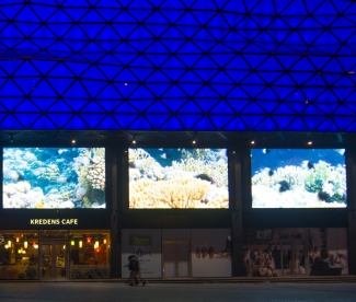 EKTA installed nine giant LED screens at Ocean Plaza in Kiev