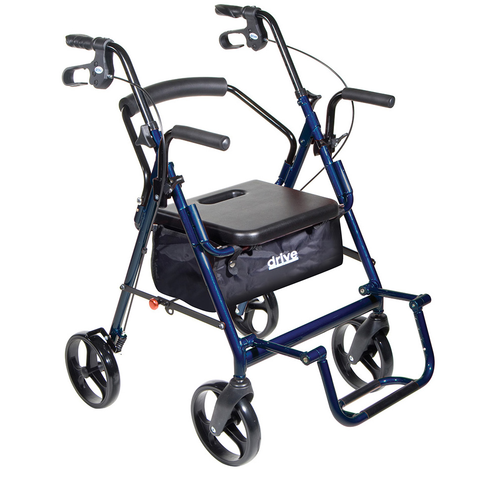 Rolling Walker Wheelchair Combo
