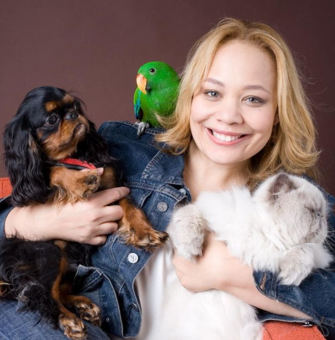 Charlotte Reed and her pets