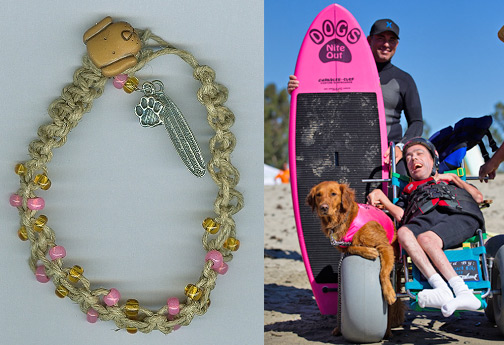 SarahDipiti bracelet - Surf Dog Ricochet at Best Day event in CA