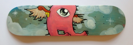 """No Meatballs In The Sky For Me"" 7 1/2"" x 31""  Peter Johnson"