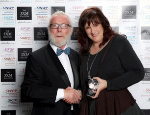 Award winner Lesley with the SWPP's Mike McNamee