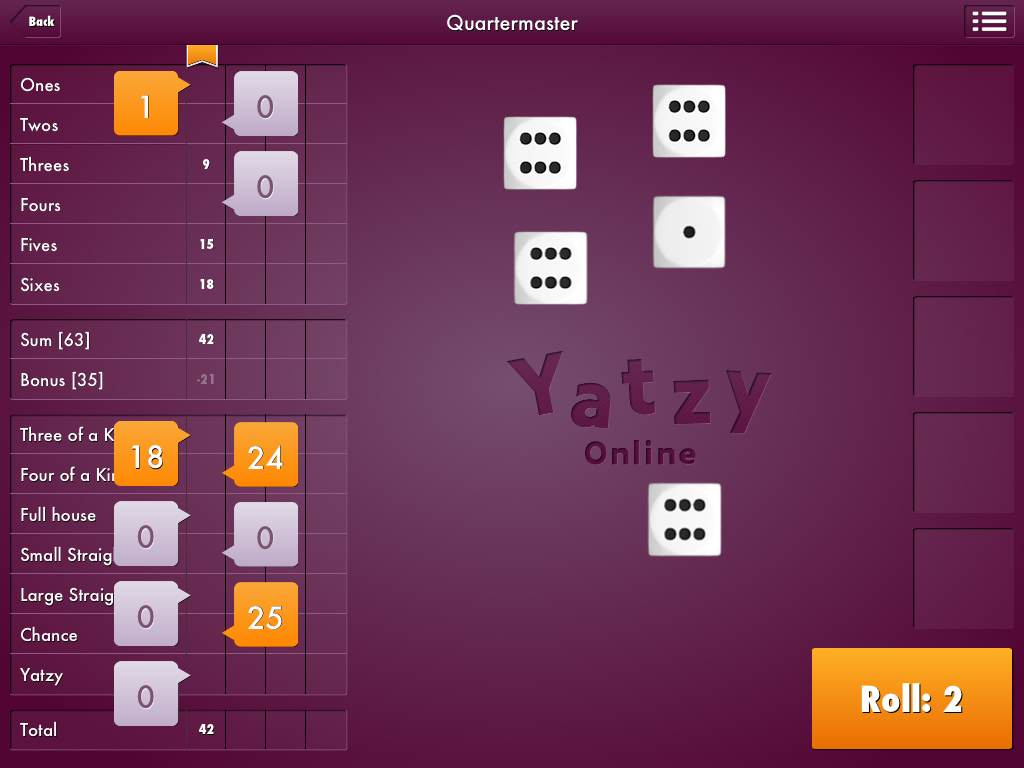 The Yatzy Online app available on the Amazon App Store is completely free