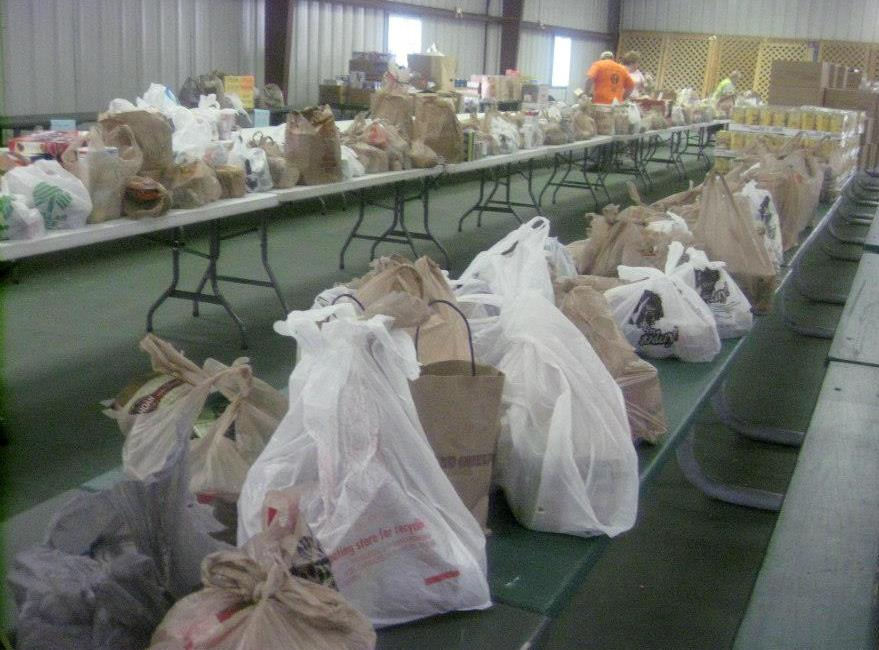 Firm raises 2,870 lbs. of food for food drive.