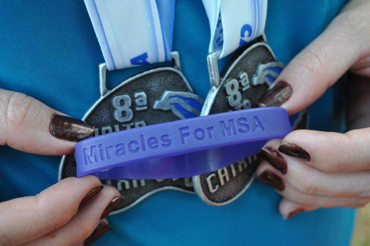 Miracles for MSA awareness bracelet