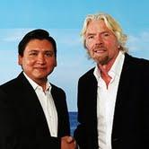 Mr. Edgar Perez and Sir Richard Branson