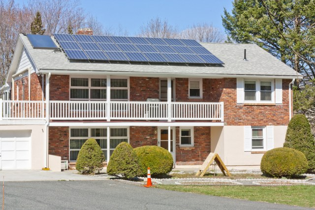 Solar electric installation by N.E. Clean Energy, Hosmer St., Marlborough
