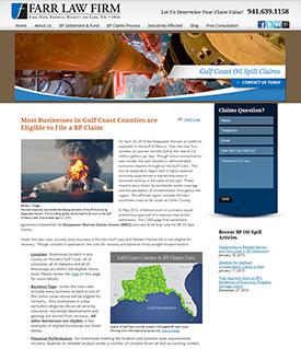 OilSpillClaims.org Website Preview