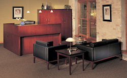 Sierra Cherry Wood Veneer - Corsica Collection with Guest Seating