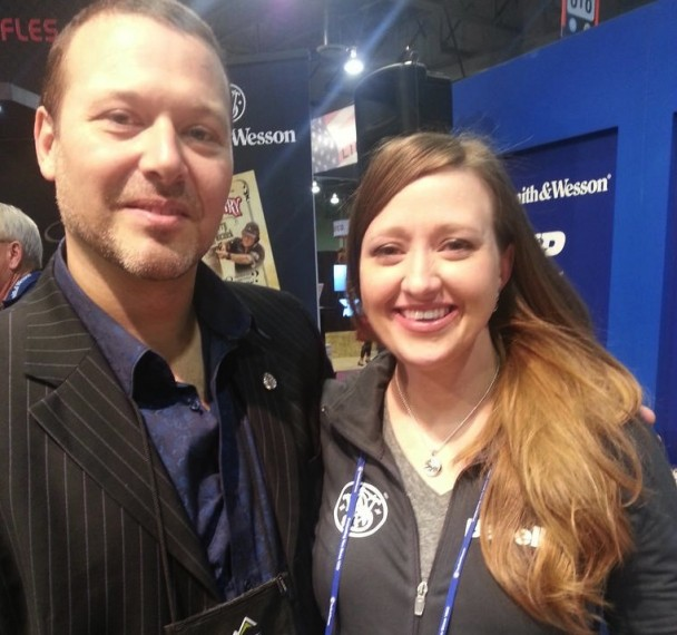Manos Phoundoulakis and Julie Golob at SHOT Show 2013
