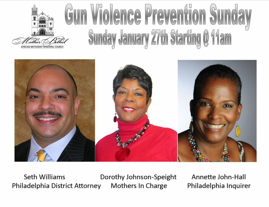 Mother Bethel Hosts Gun Violence Prevention Sunday On January 27, 2013 at 11am