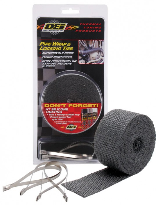 DEI Motorcycle Pipe Wrap and Locking Ties Kit