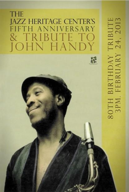 John Handy Handbill by Kali O'Ray, E.D. of San Francisco Black Film Fest.
