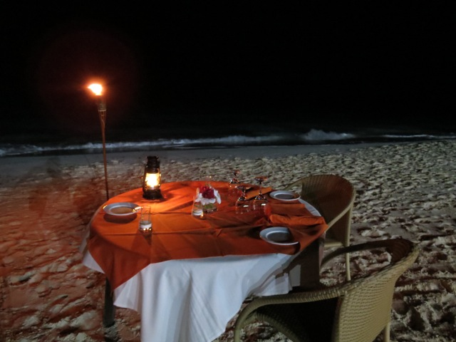 Barefoot Beach Dinner at Mango Reef
