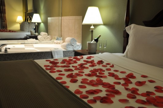 Relax with your Valentine in our spacious Jacuzzi Suite