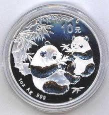 silver coin - pandas