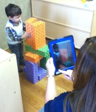 Rainbow Academy teacher shoots Tadpoles® video of Kiprian Talevski for his mom