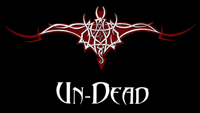 The word 'Un-Dead' is hidden in the monogram of the official Un-Dead bat logo.