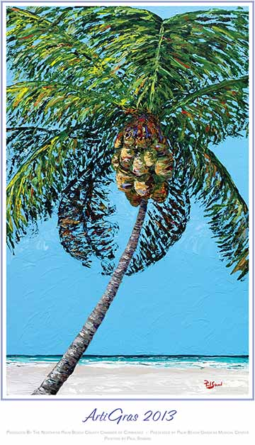 Kelly's Palm -- The Official Poster of 2013 ArtiGras Fine Arts Festival